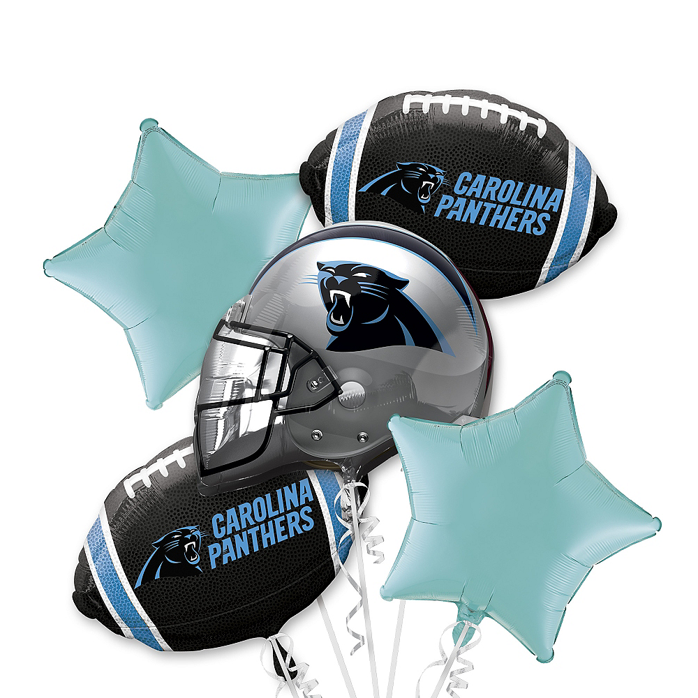 Nav Item for Carolina Panthers Balloon Bouquet 5pc Image #1