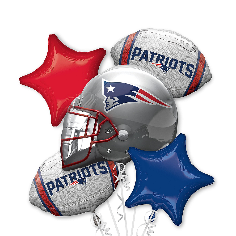 New England Patriots Balloon Bouquet 5pc Image #1