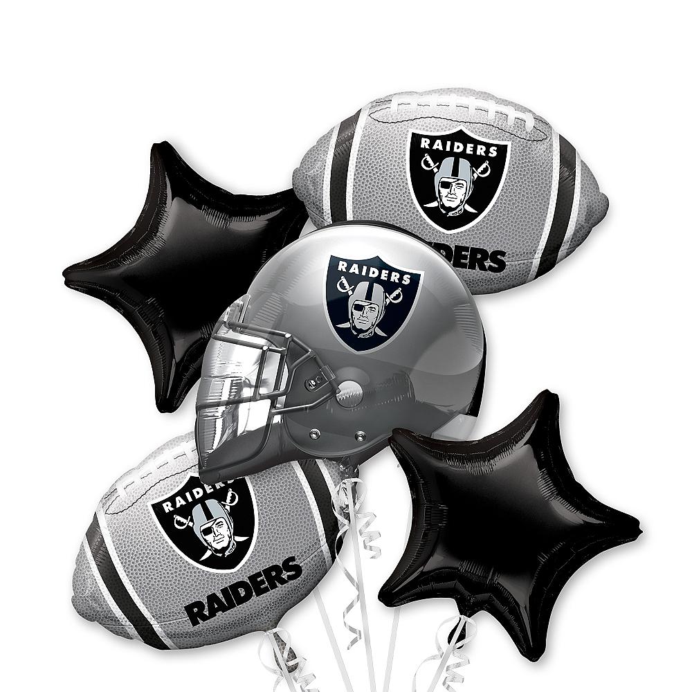 Oakland Raiders Balloon Bouquet 5pc Image #1