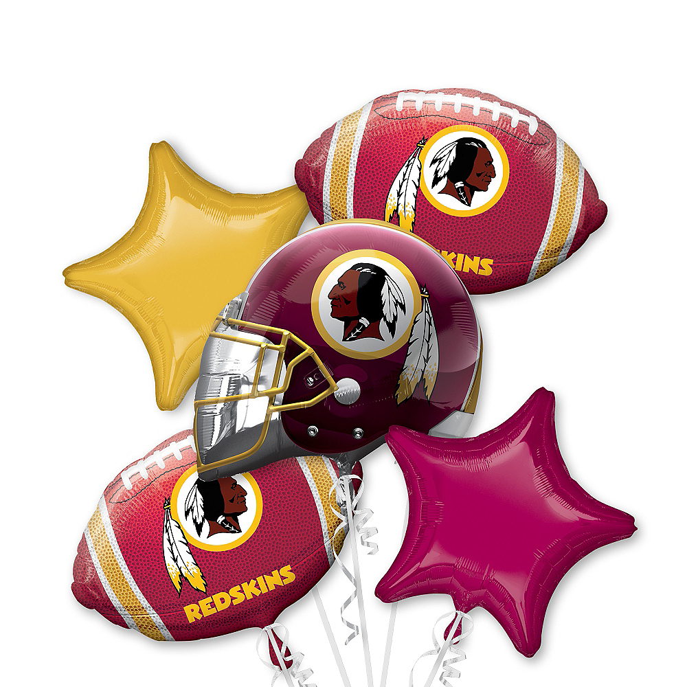Nav Item for Washington Redskins Balloon Bouquet 5pc Image #1