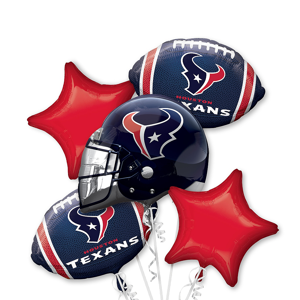 Houston Texans Balloon Bouquet 5pc Image #1