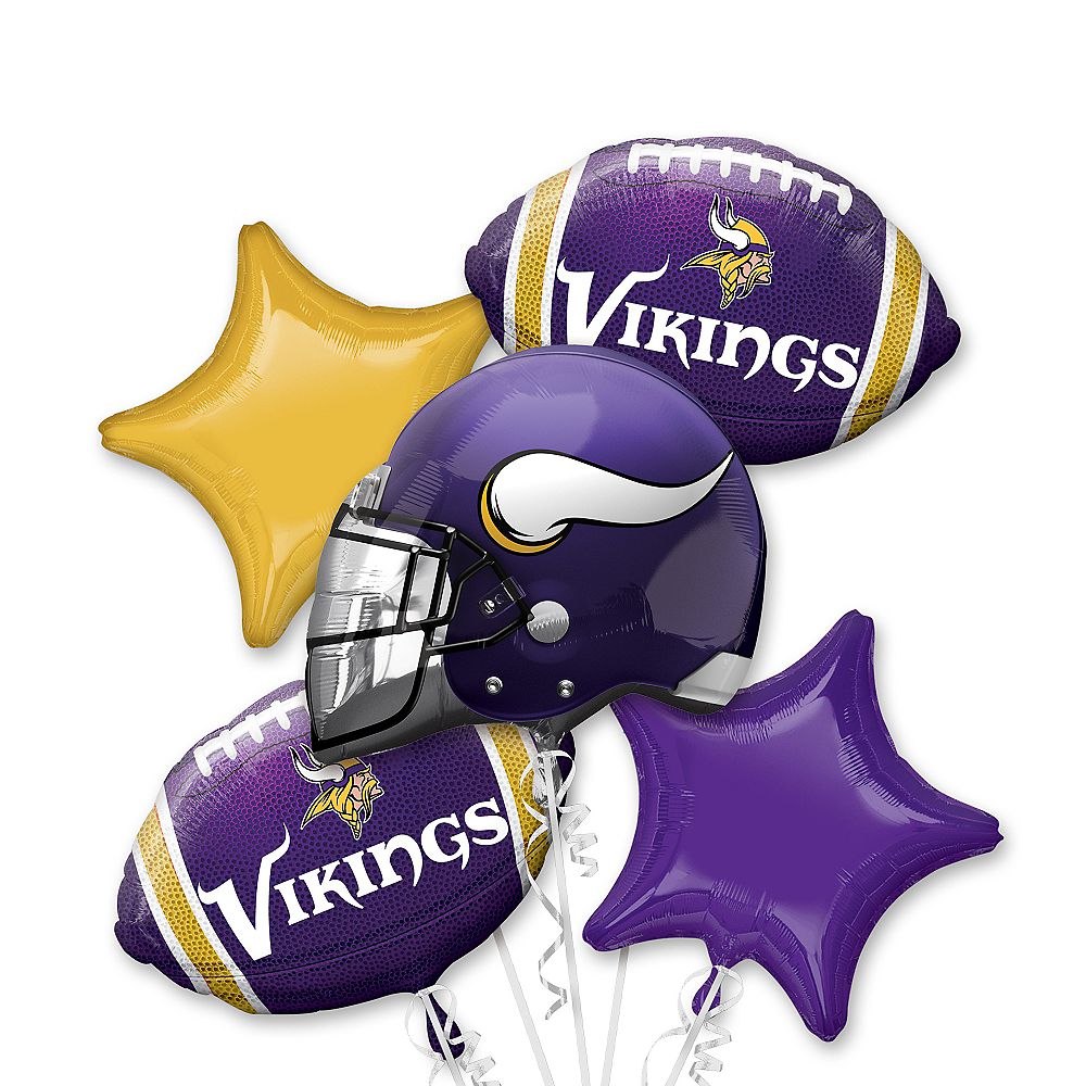 best service a346e f7251 Minnesota Vikings Balloon Bouquet 5pc