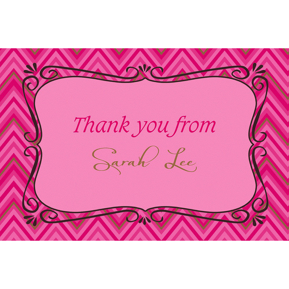 Custom Born to Be Fabulous Thank You Note  Image #1