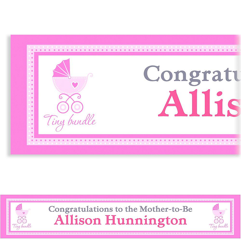 Custom Celebrate Baby Girl Banner Image #1