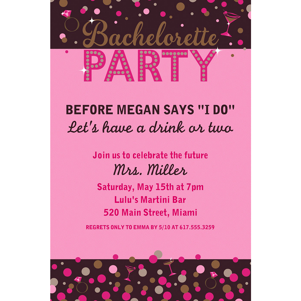 Custom Bachelorette Night Invitation Image #1