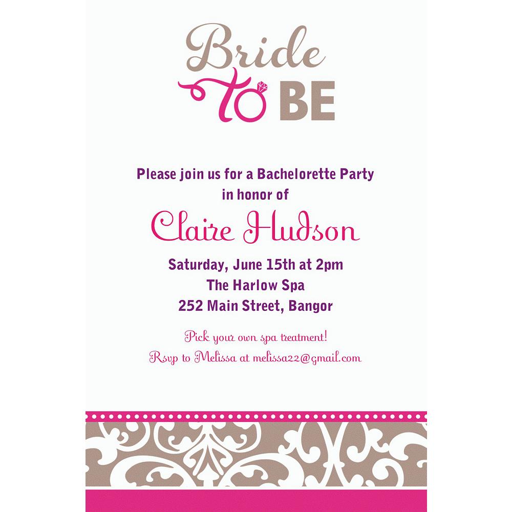 Custom Classic Bride Invitation Image #1