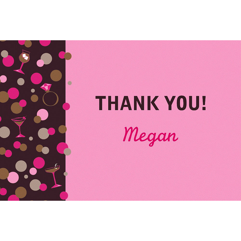 Custom Bachelorette Night Thank You Note Image #1