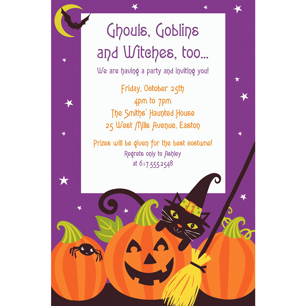 Custom Witch's Crew Invitation Image #1