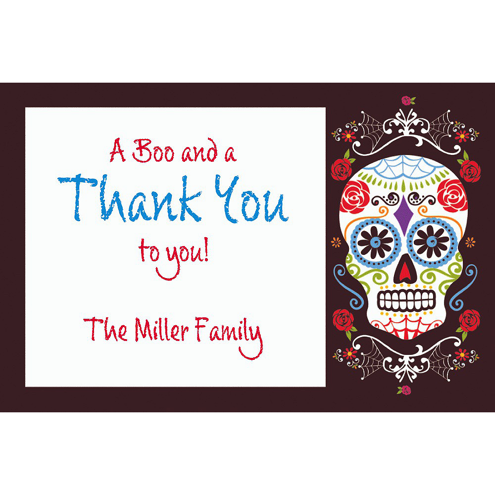 Custom Day of the Dead Thank You Note Image #1