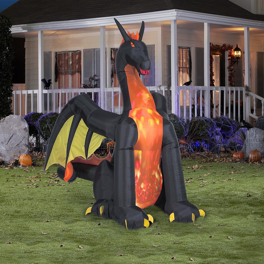 Light-Up Inflatable Dragon Image #1