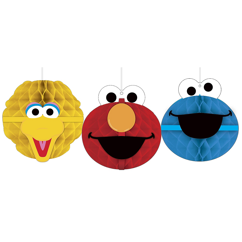 Sesame Street Honeycomb Decorations 3ct Image #1