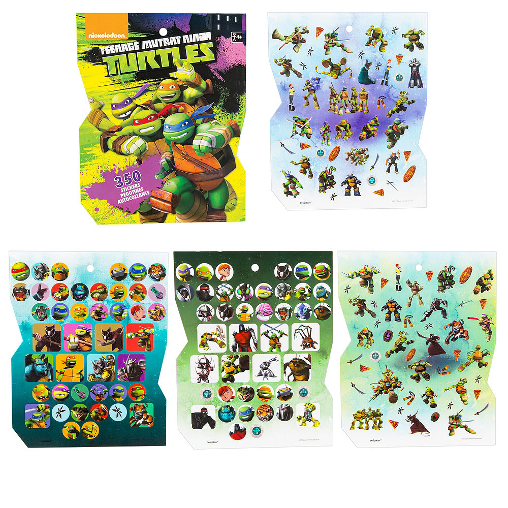 Jumbo Teenage Mutant Ninja Turtles Sticker Book 8 Sheets Image #1