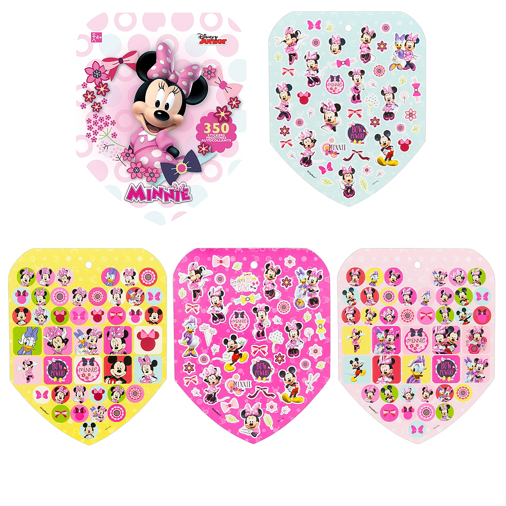 Jumbo Minnie Mouse Sticker Book 8 Sheets | Party City