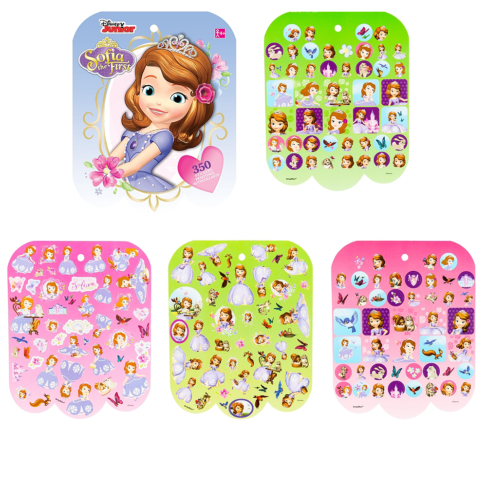 Jumbo Sofia the First Sticker Book 8 Sheets Image #1