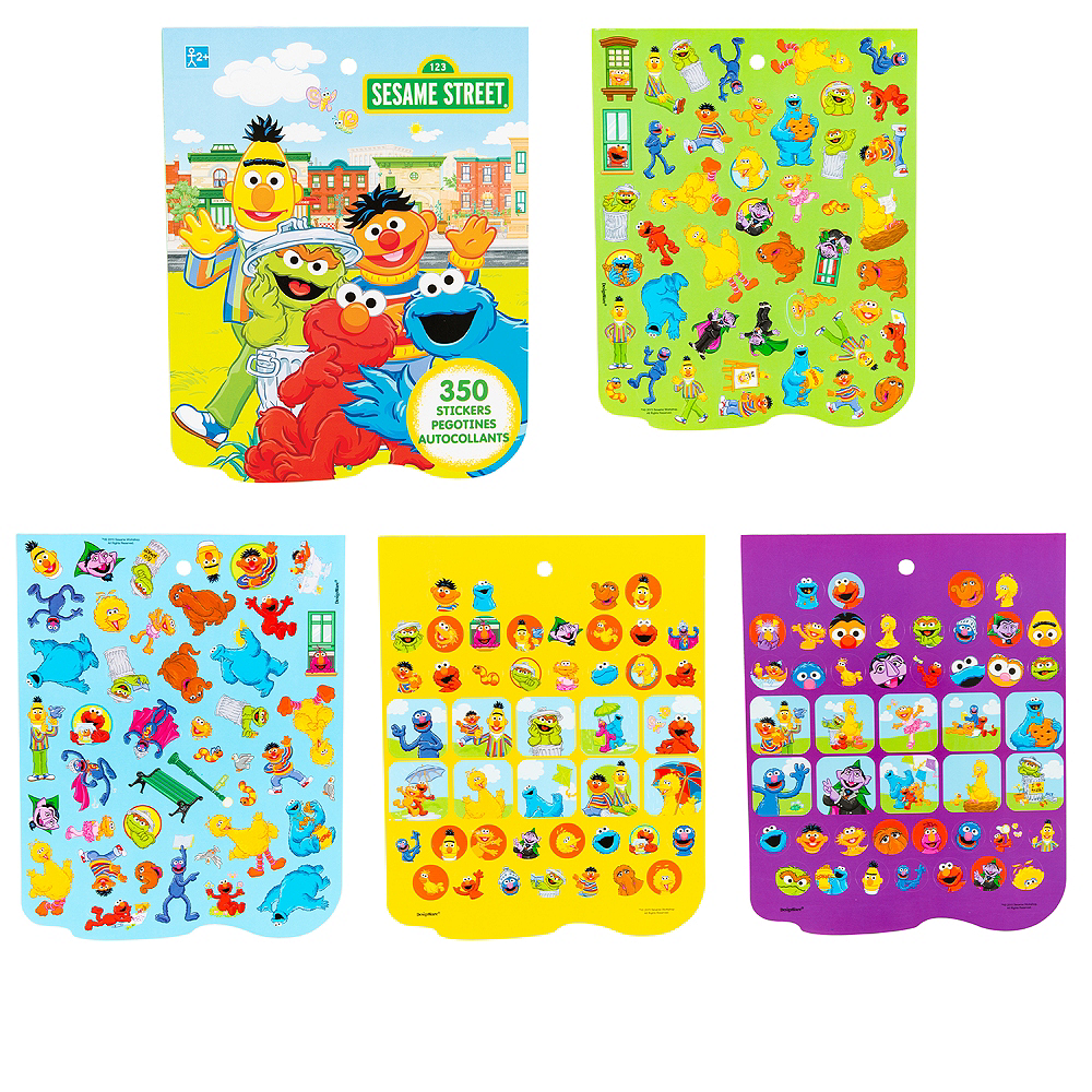 Jumbo sesame street sticker book 8 sheets image 1