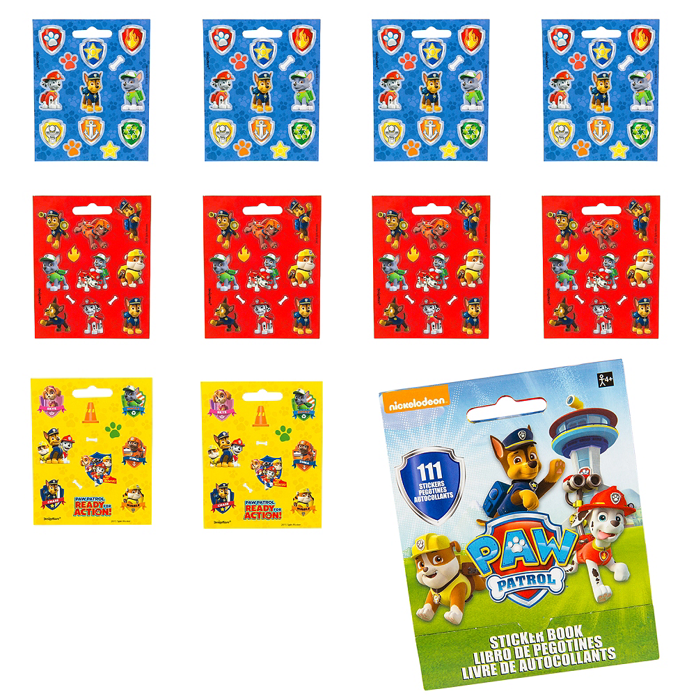 Paw patrol sticker book 9 sheets image 1