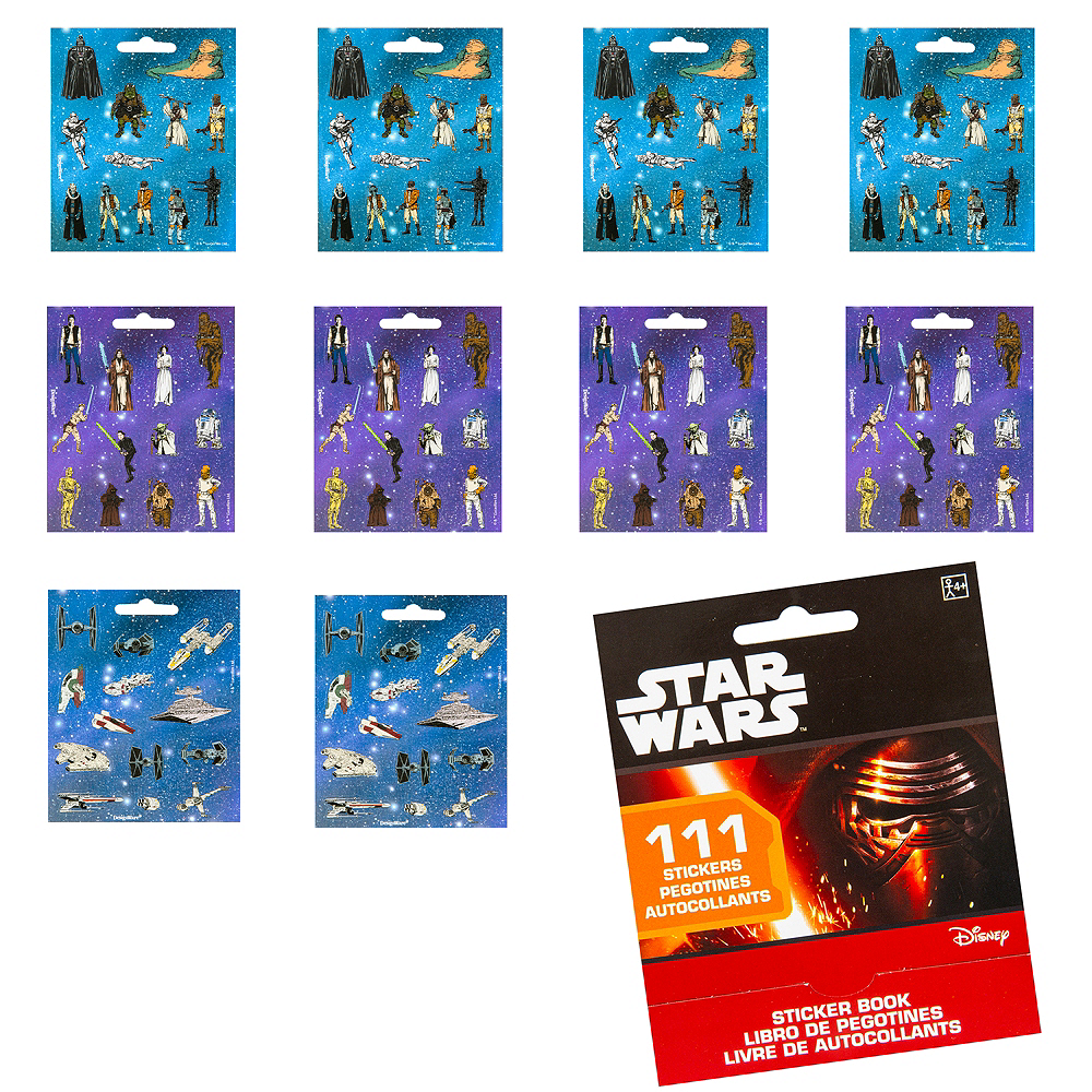 Star Wars Sticker Book 9 Sheets Image #1