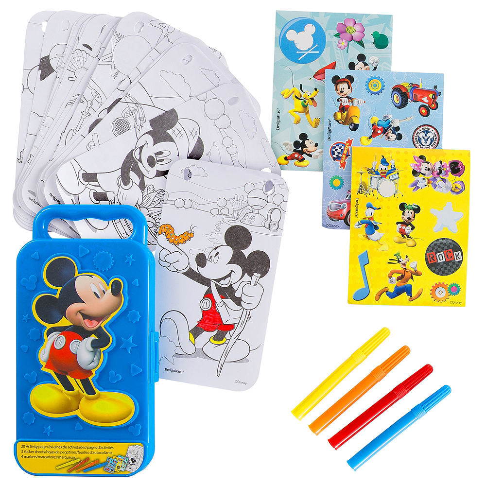 Mickey mouse sticker activity box