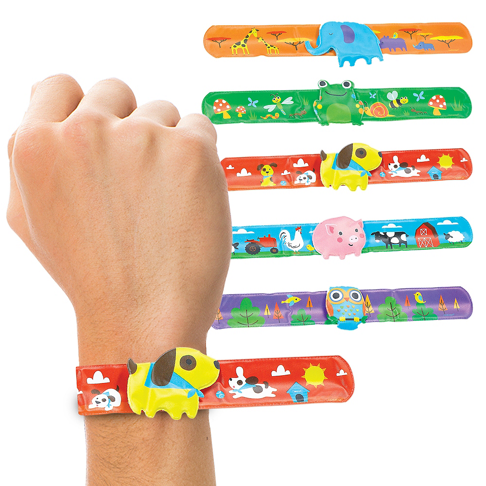 Animal Slap Bracelets 6ct Image 1