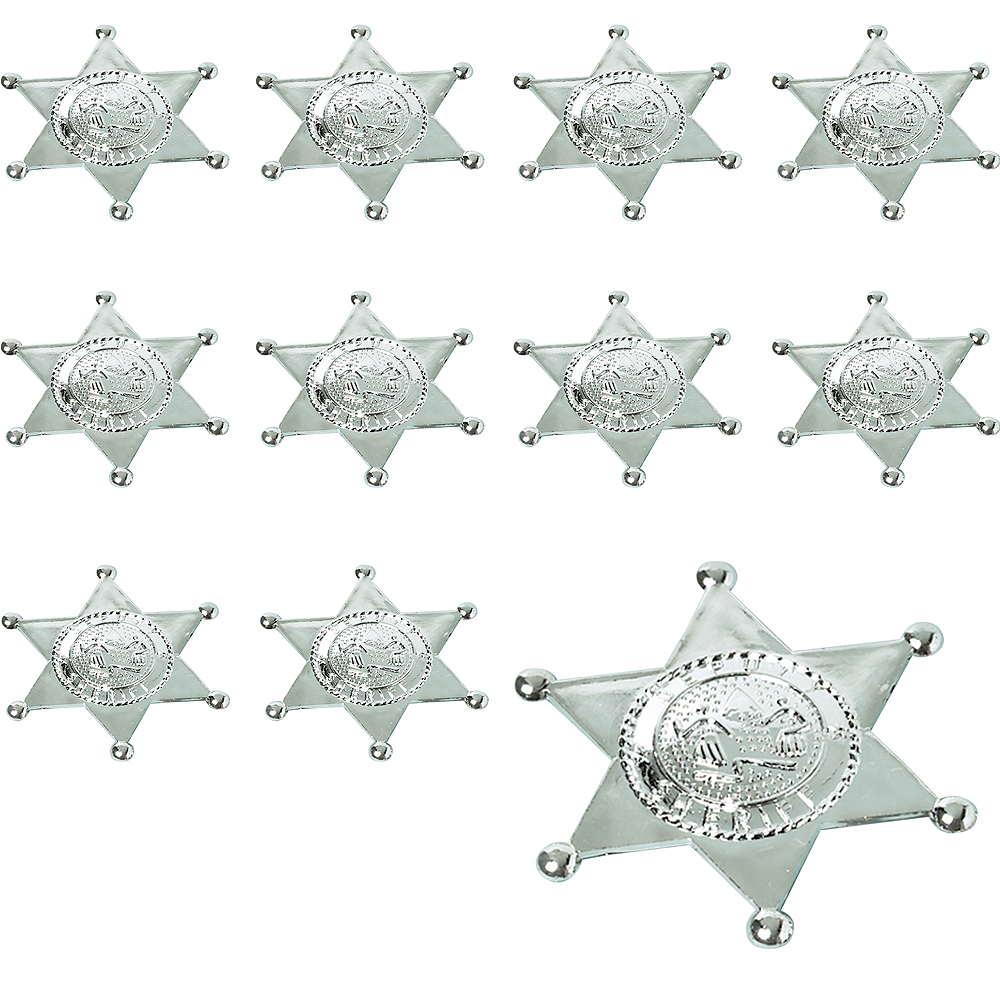 Silver Sheriff Badges 24ct Image #1
