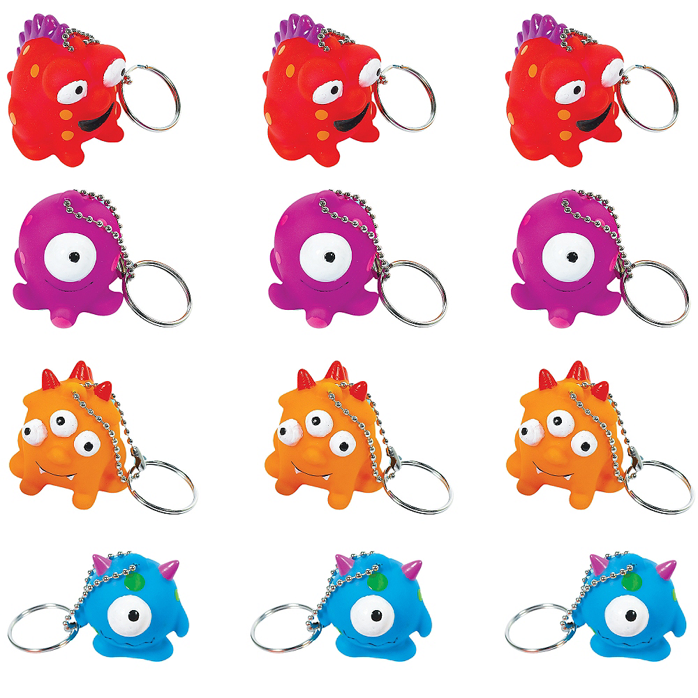 Monster Keychains 12ct Image #1
