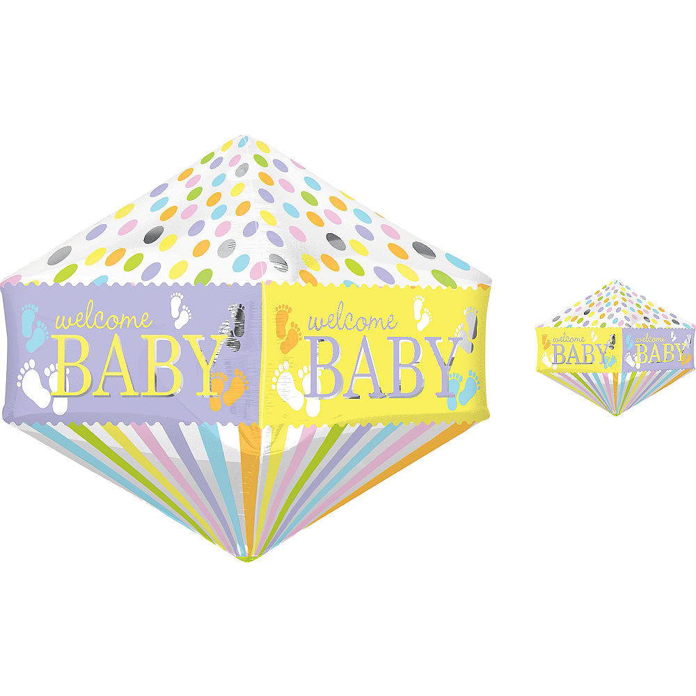 Nav Item for Welcome Baby Balloon - Anglez Baby Feet Image #1
