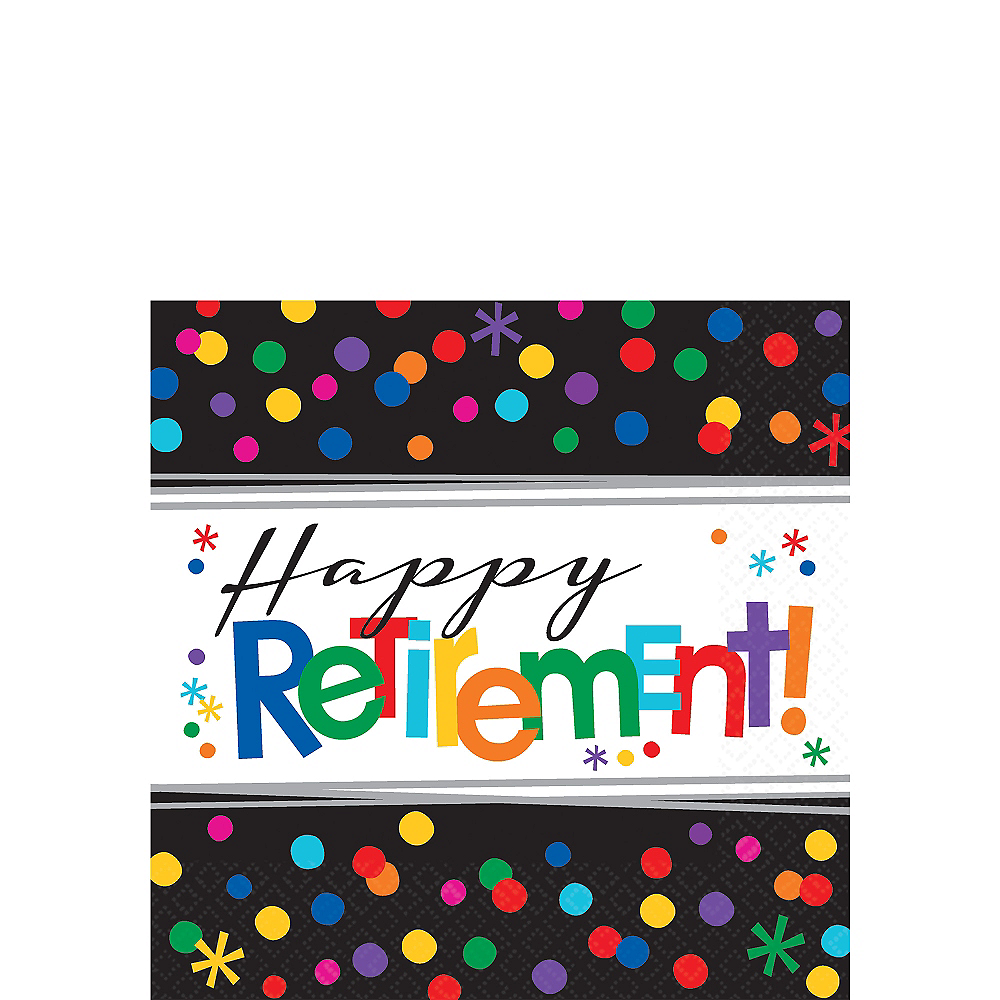 Happy Retirement Celebration Beverage Napkins 16ct Image #1