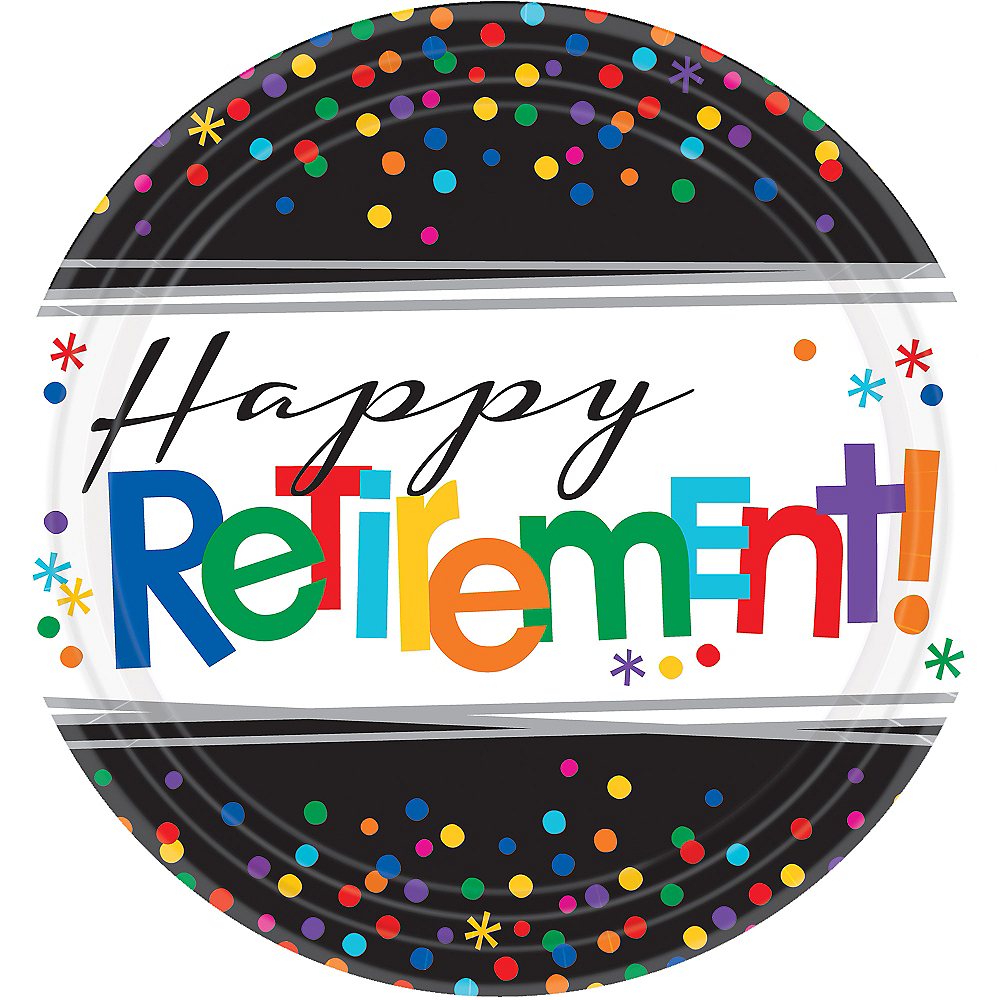 Happy Retirement Celebration Dinner Plates 8ct Image #1