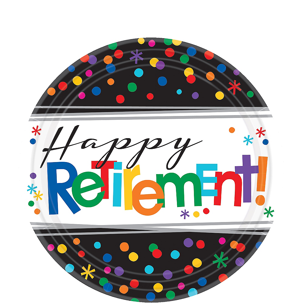 Happy Retirement Celebration Dessert Plates 8ct Image #1