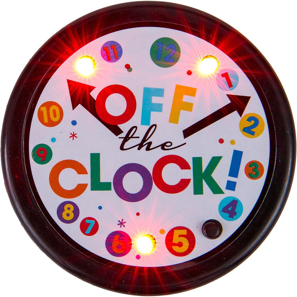Light-Up Happy Retirement Celebration Button Image #2