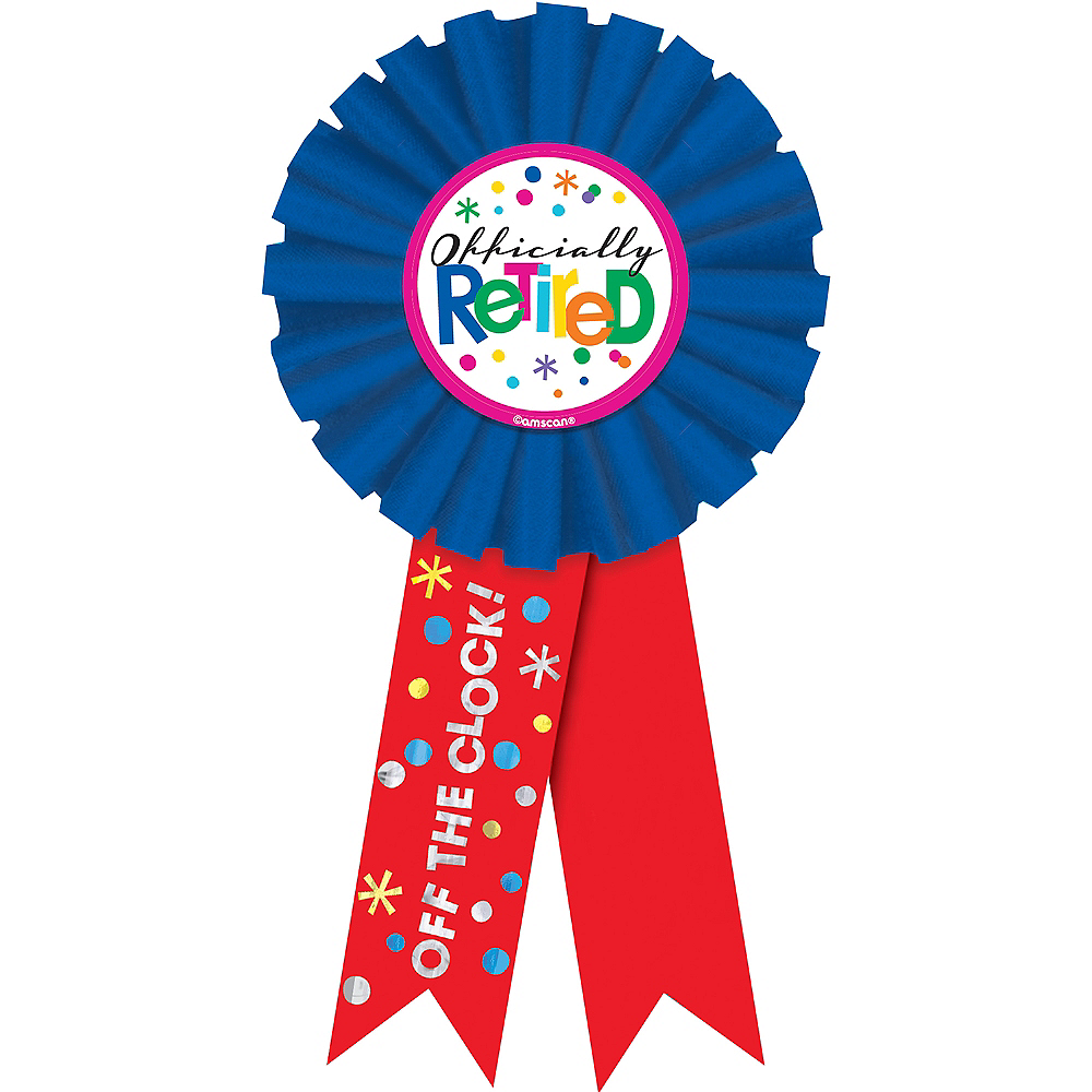 Happy Retirement Celebration Award Ribbon Image #1