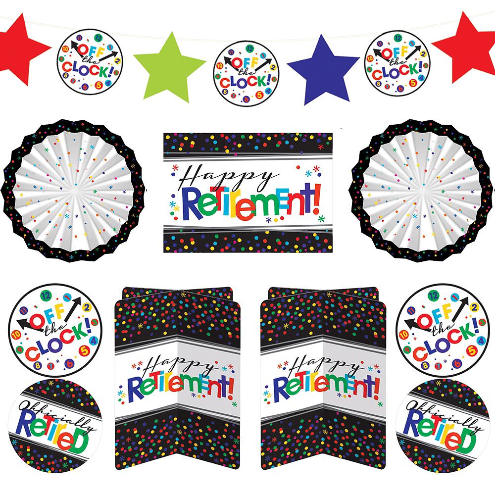 Happy Retirement Celebration Room Decorating Kit 10pc Image #1