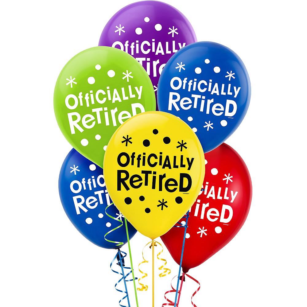 Happy Retirement Celebration Balloons 15ct Image #1
