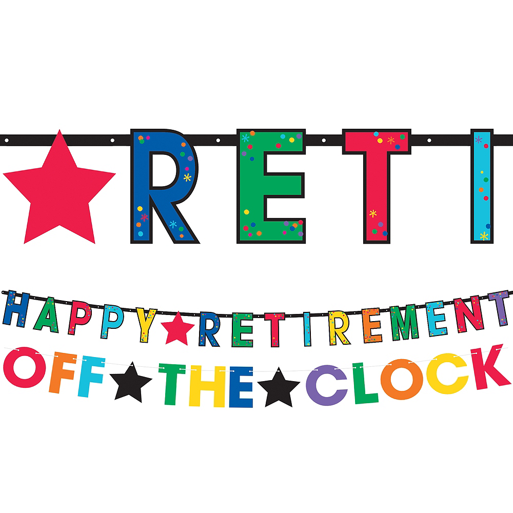 Happy Retirement Celebration Letter Banners 2ct Image #1