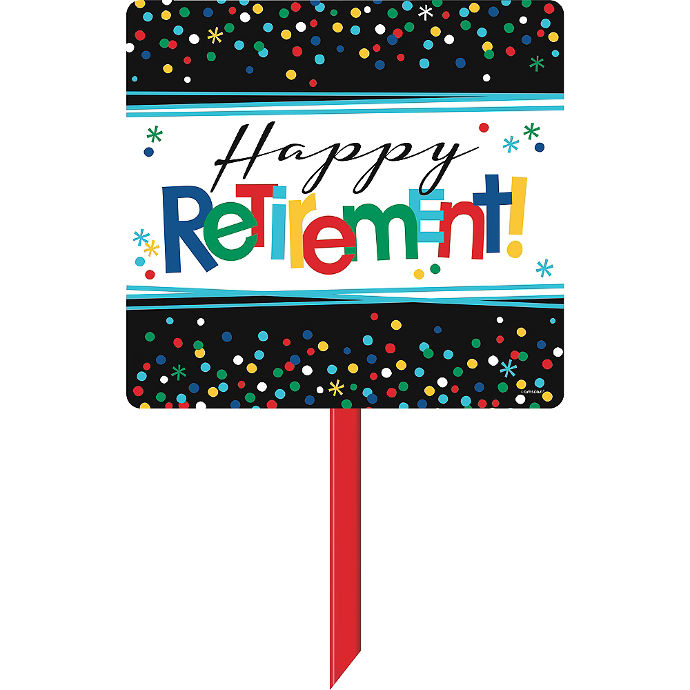 Happy Retirement Celebration Yard Sign Image #1