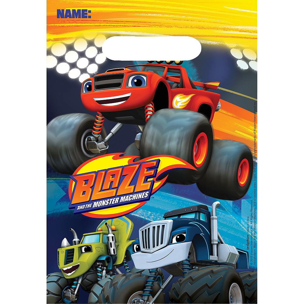 Nav Item for Blaze and the Monster Machines Favor Bags 8ct Image #1