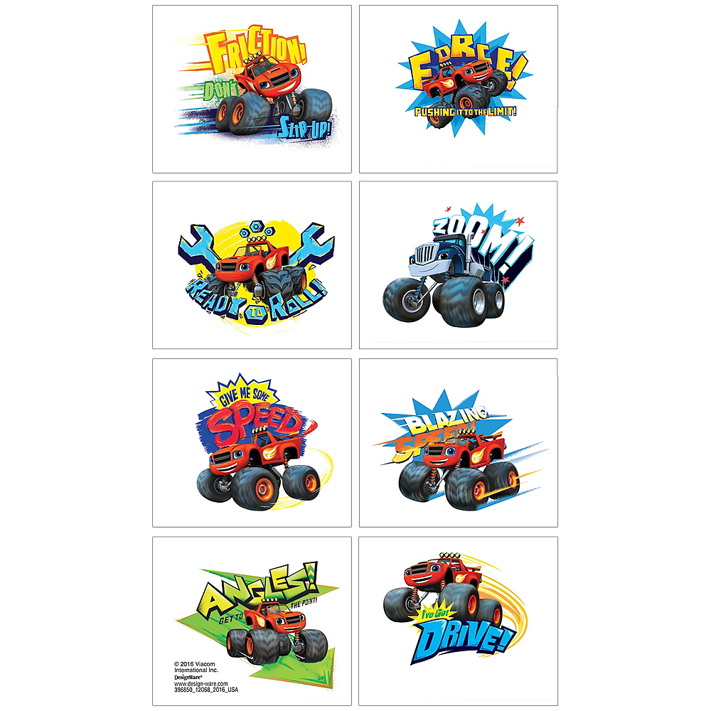 Blaze and the Monster Machines Tattoos 1 Sheet Image #1