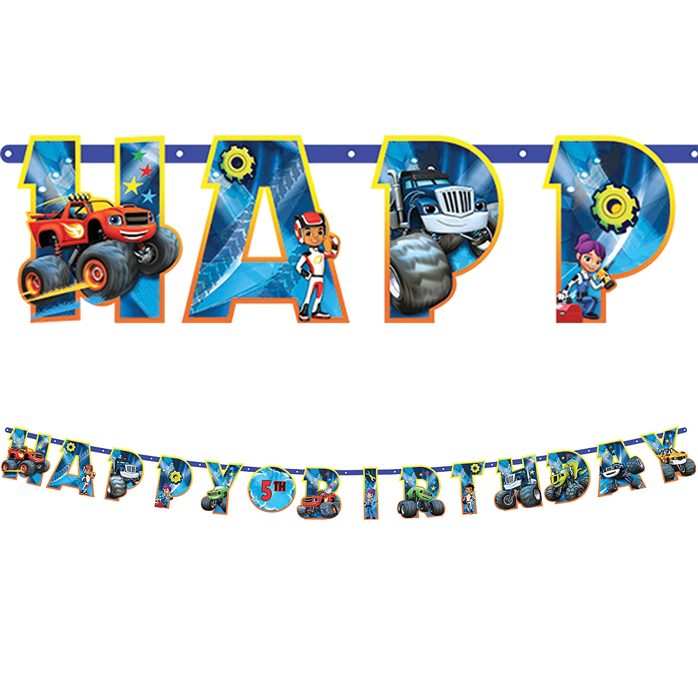 Blaze and the Monster Machines Birthday Banner Kit Image #1