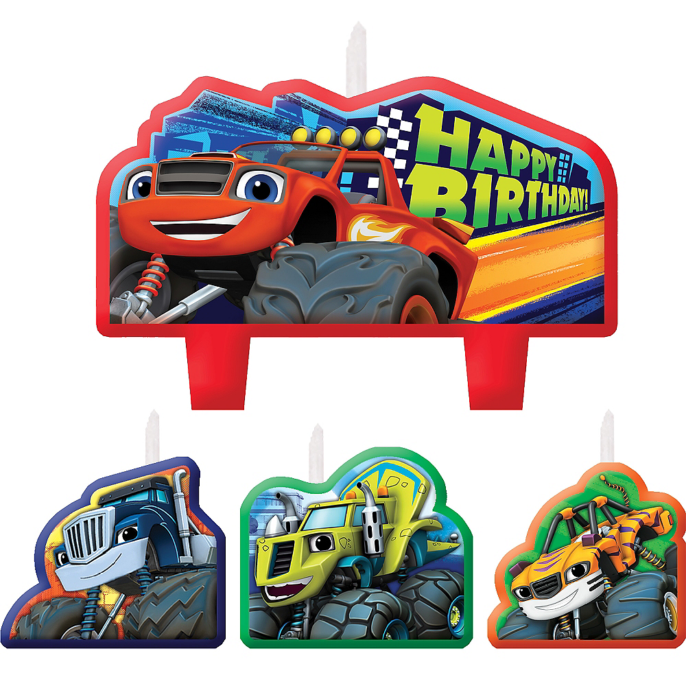 Blaze and the Monster Machines Birthday Candles 4ct Image #1