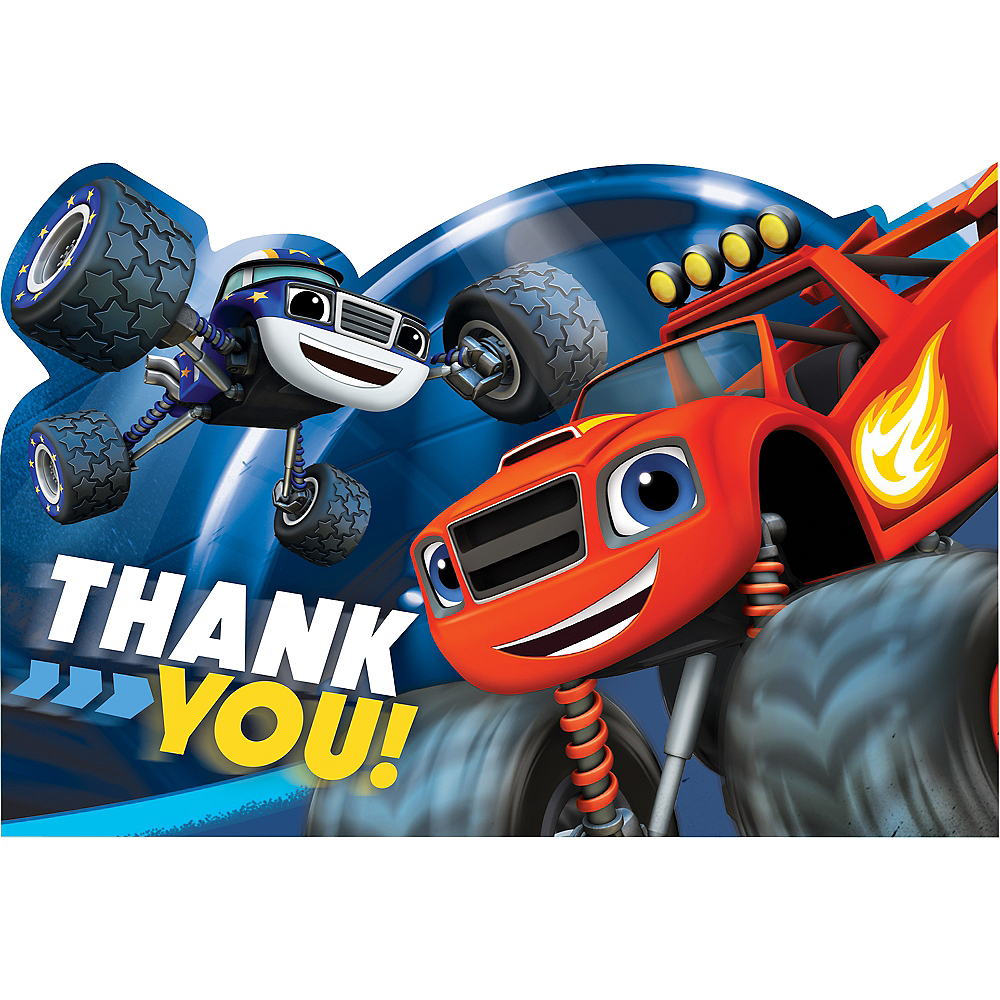 Blaze and the Monster Machines Thank You Notes 8ct Image #1