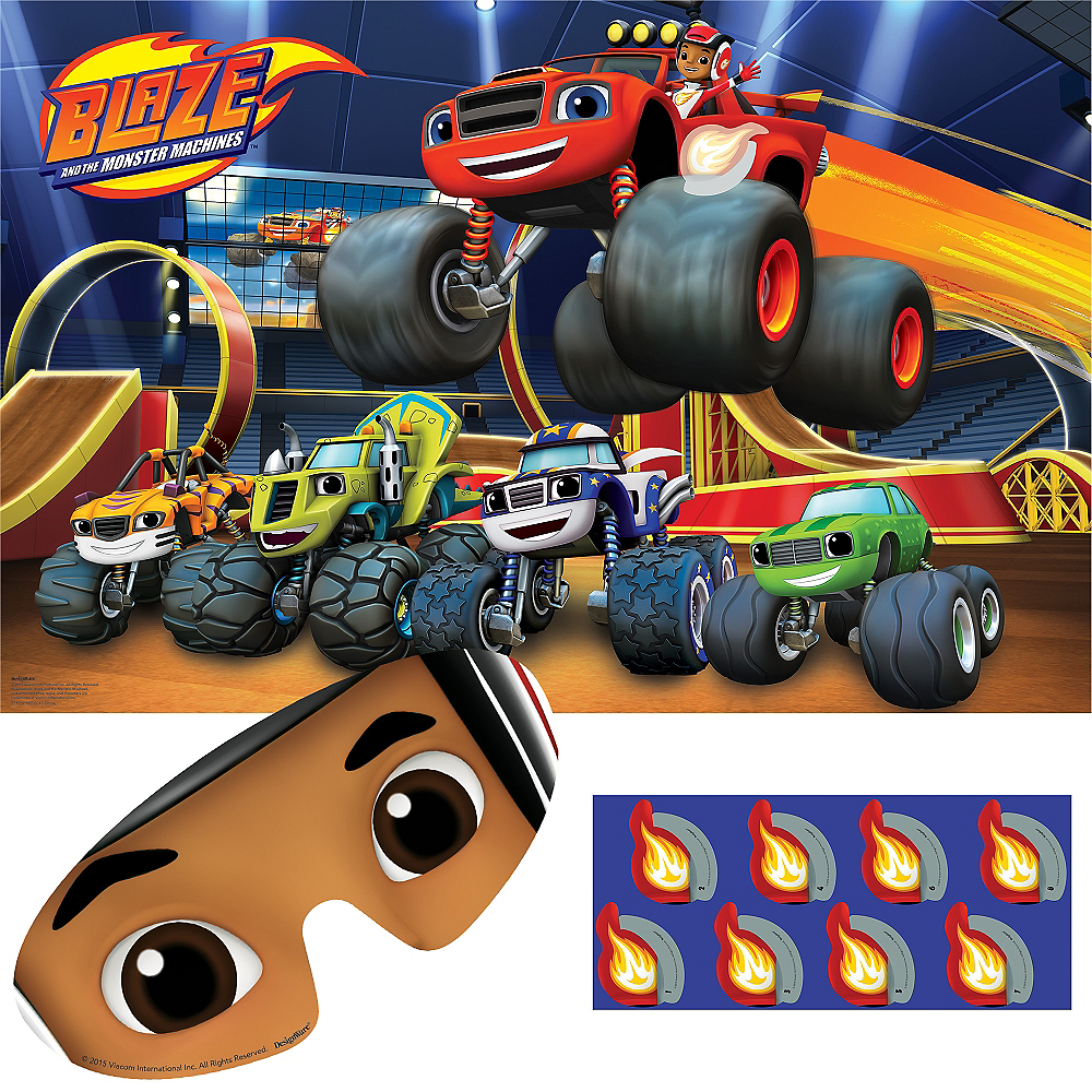 Blaze and the Monster Machines Party Game 10pc Image #1