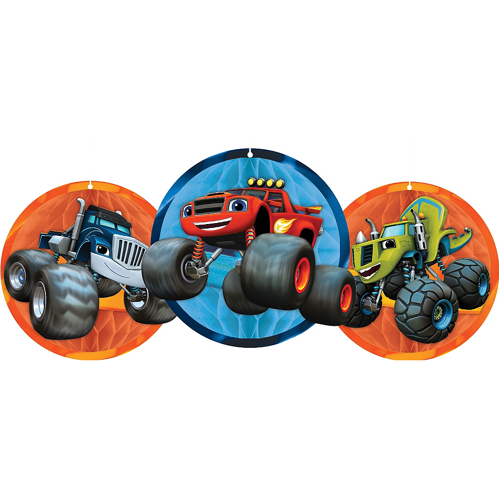 Blaze and the Monster Machines Honeycomb Balls 3ct Image #1