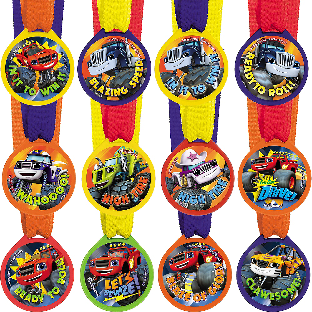 Blaze and the Monster Machines Award Medals 12ct Image #1