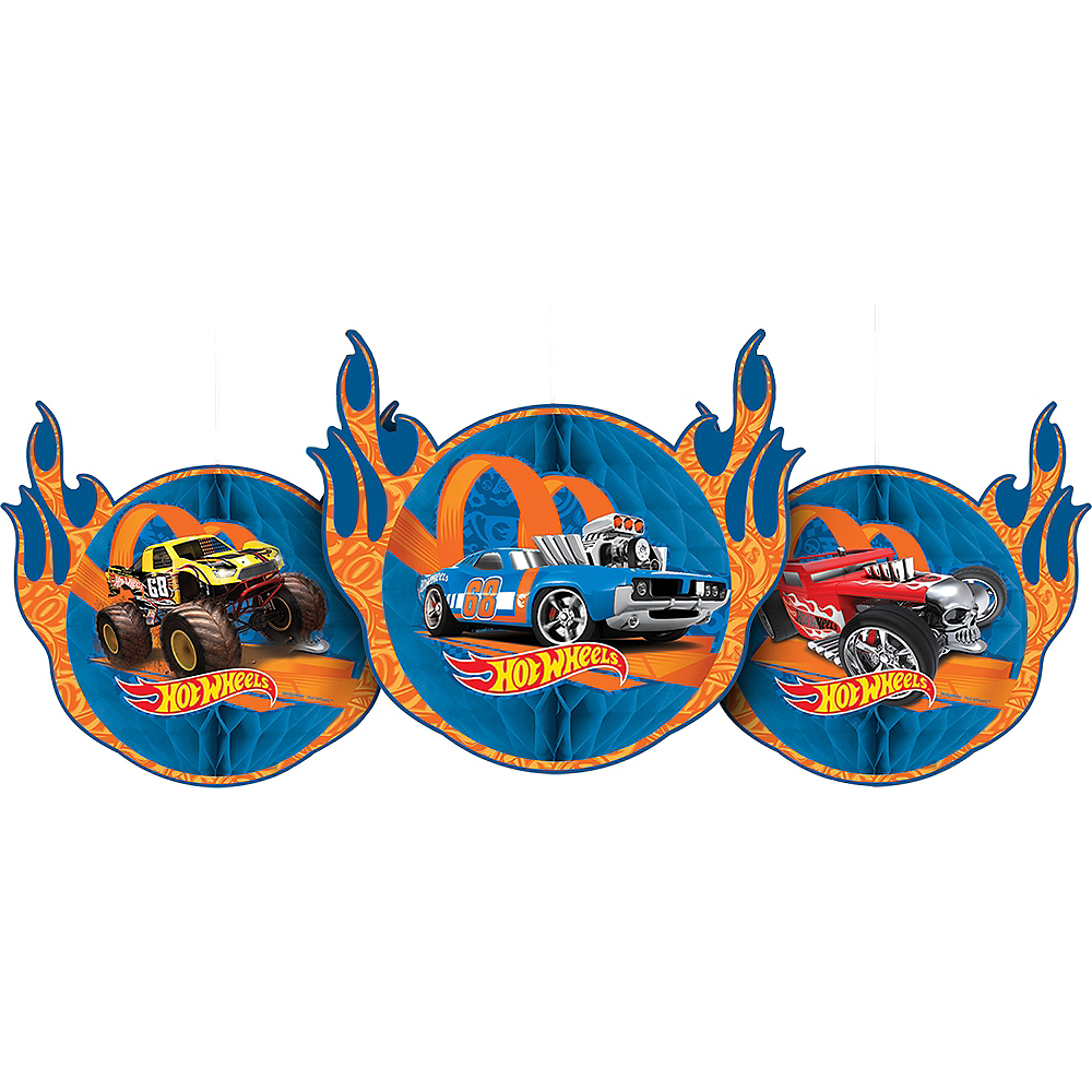 Hot Wheels Honeycomb Balls 3ct Party City