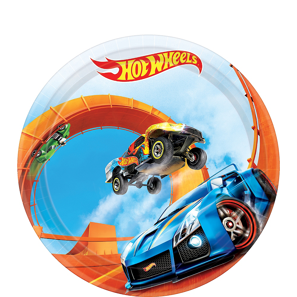 Hot Wheels Dessert Plates 8ct Image #1