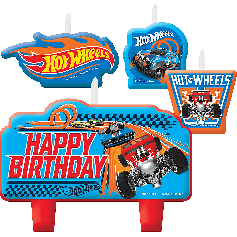 Strange Hot Wheels Birthday Candles 4Ct Party City Funny Birthday Cards Online Chimdamsfinfo