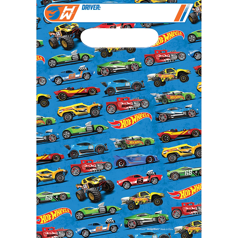 Hot Wheels Favor Bags 8ct Image #1