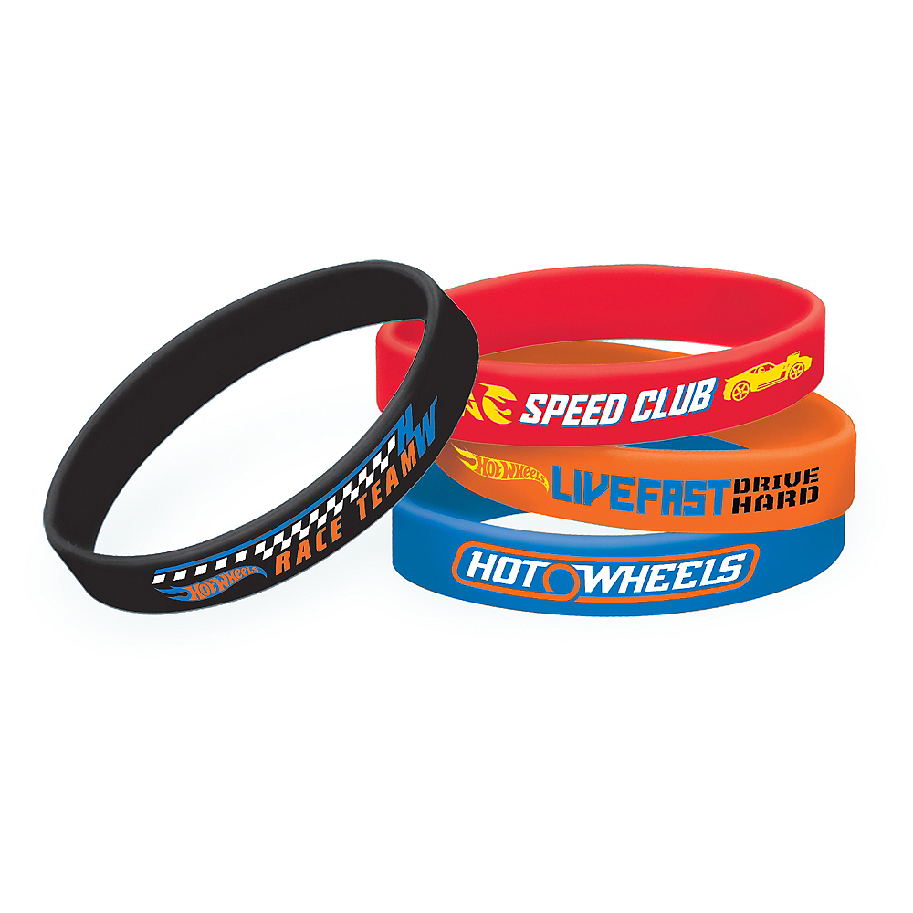 Hot Wheels Wristbands 4ct Image #1