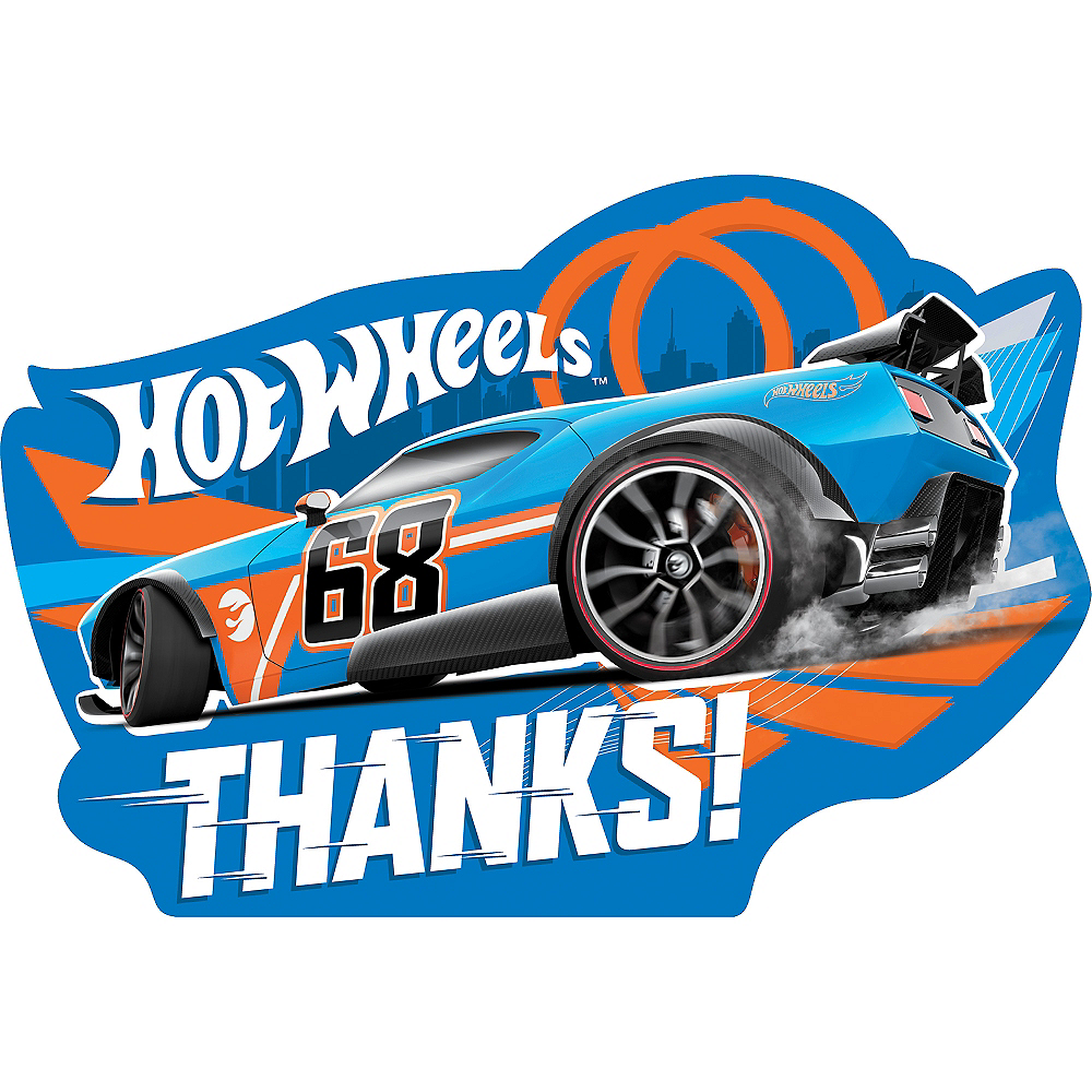 Hot Wheels Thank You Notes 8ct Image #1