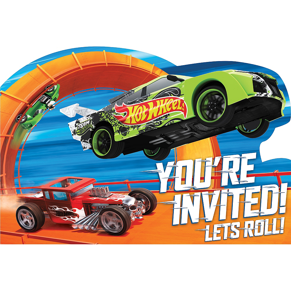 Hot Wheels Invitations 8ct Image #1